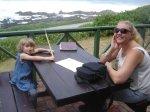 Bella at Barnacle tea room, Sea View