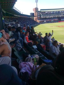 Crowd watching ODI in PE