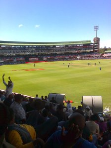 Supporters watching SA beat Sri Lanka in the first ODI