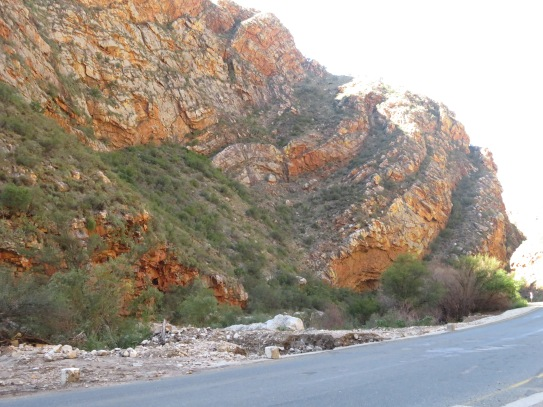 Sandstone cliffs of Meiringspoort