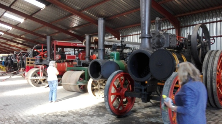 Some of Sandstone Estates Steam Heritage collection of rare road steam traction engines and steam rollers .